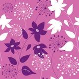 Стильная безшовная картина с цветками иллюстрация штока