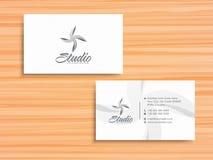 Стильная горизонтальная визитная карточка или карточка посещения Стоковая Фотография RF