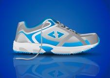 Стильная голубая иллюстрация вектора ботинка спорт тапки Стоковые Фото