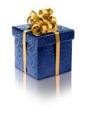 Стильная голубая присутствующая коробка Стоковое Изображение