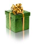 Стильная зеленая присутствующая коробка Стоковое Фото