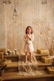 Стильная маленькая девочка Стоковое Фото