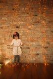 Стильная маленькая девочка Стоковое Изображение RF