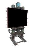 Стильная промышленная панель рекламы стиля, ржавая шестерня и болт, Стоковые Фотографии RF