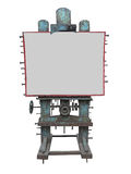 Стильная промышленная панель рекламы стиля, ржавая шестерня и болт, Стоковое Изображение RF