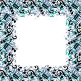 Стильная рамка сделанная с примечаниями музыки Стоковая Фотография