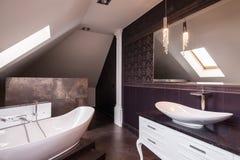 Стильная современная ванная комната Стоковые Изображения