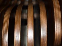 Стильная текстура, коричневый цвет, striped стенд конца-вверх, Стоковое Изображение