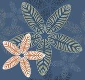 Стильная тропическая картина листьев Стоковое Изображение RF