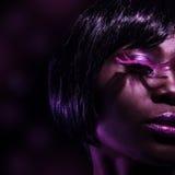 Стильная чернокожая женщина стоковые фотографии rf