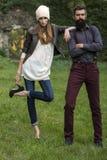 Стильные пары внешние Стоковая Фотография