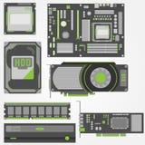 Стильные, простые части компьютера Стоковая Фотография