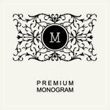 Стильный вензель, линия искусство Nouveau логотипа искусства бесплатная иллюстрация