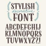 Стильный винтажный декоративный шрифт Стоковое фото RF