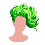 Стильный женский стиль причёсок Стоковые Изображения RF