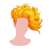 Стильный женский стиль причёсок стоковые изображения