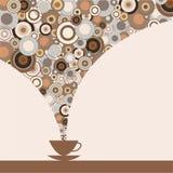 Стильный дизайн чашки кофе иллюстрация штока