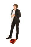 Стильный молодой архитектор с курчавыми коричневыми волосами Стоковое Изображение