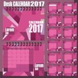 Стильный настольный календарь Стоковые Фото