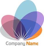 Стильный логотип цветка Стоковое фото RF