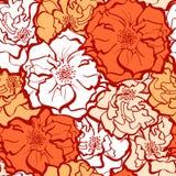 Стильный розовый орнамент цветков Стоковые Фотографии RF