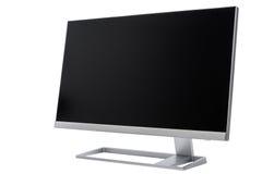 Стильный, современный дисплей компьютера LCD, вид сзади Стоковое Изображение