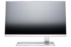 Стильный, современный дисплей компьютера LCD, вид сзади Стоковое фото RF