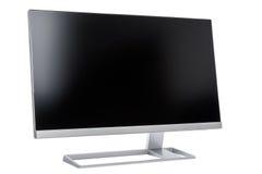 Стильный, современный дисплей компьютера LCD, вид сзади Стоковые Изображения