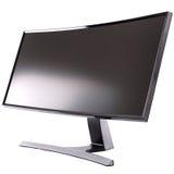 Стильный, современный дисплей компьютера LCD, вид сзади Стоковая Фотография