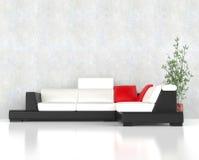 Стильный современный угловой комплект мебели Стоковые Фото