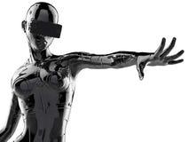 Стильный chromeplated киборг женщина иллюстрация 3d бесплатная иллюстрация