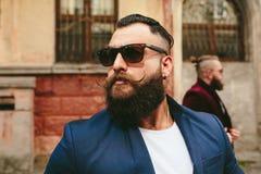 2 стильных бородатых люд Стоковая Фотография