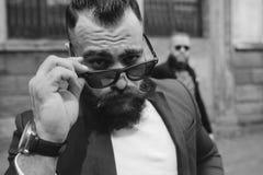 2 стильных бородатых люд Стоковое Фото