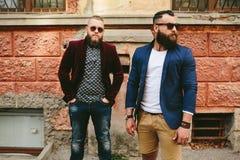 2 стильных бородатых люд Стоковая Фотография RF