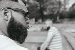 2 стильных бородатых люд Стоковое Изображение RF
