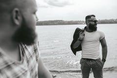 2 стильных бородатых люд Стоковое Изображение