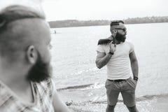 2 стильных бородатых люд Стоковые Изображения RF