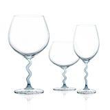3 стильных чашки изолированной на белой предпосылке Стоковое Фото