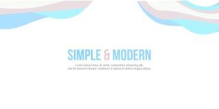 Стиль абстрактного знамени вебсайта заголовка современный Стоковая Фотография