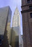 Стиль Арт Деко, архитектурноакустически значительно здание Крайслера в центре города Манхаттане стоковые фотографии rf
