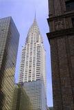 Стиль Арт Деко, архитектурноакустически значительно здание Крайслера в центре города Манхаттане стоковое фото rf