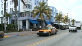 Стиль Арт Деко зданий привода океана Майами - промежуток времени акции видеоматериалы