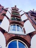 Стиль архитектуры в Амстердаме Нидерланд Стоковая Фотография RF