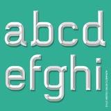 Стиль алфавита современный. Стоковое Изображение