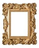 Стиль барокко картинной рамки Винтажный объект золота искусства Стоковые Фотографии RF