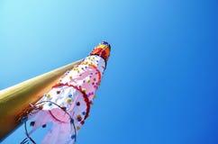 Стиль Бирмы флага на монастыре Ya животиков Tai Стоковое Изображение RF
