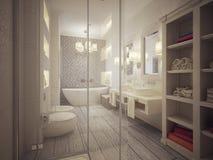 Стиль ванной комнаты классический Стоковая Фотография