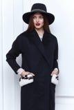 Стиль вскользь одежд носки бизнес-леди на осень зимы Стоковое Изображение