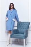 Стиль вскользь одежд носки бизнес-леди на осень зимы Стоковое Фото