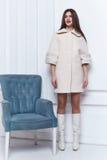 Стиль вскользь одежд носки бизнес-леди на осень зимы Стоковое Изображение RF